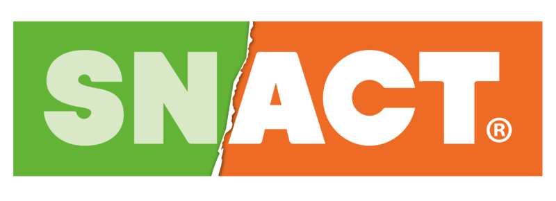 The new logo for Snact