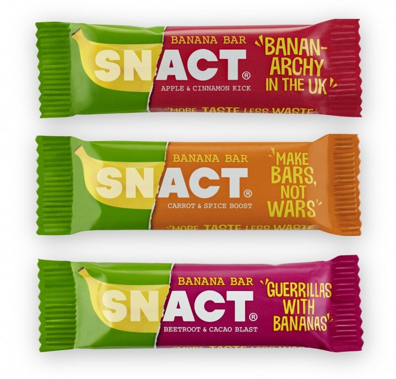 Snact banana bars trio