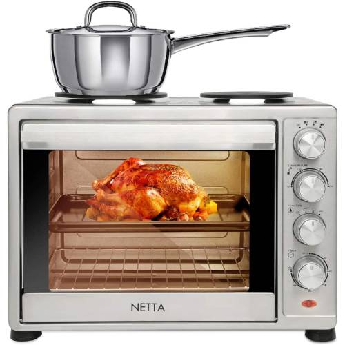 Netta Electric 45L with Double Hotplate